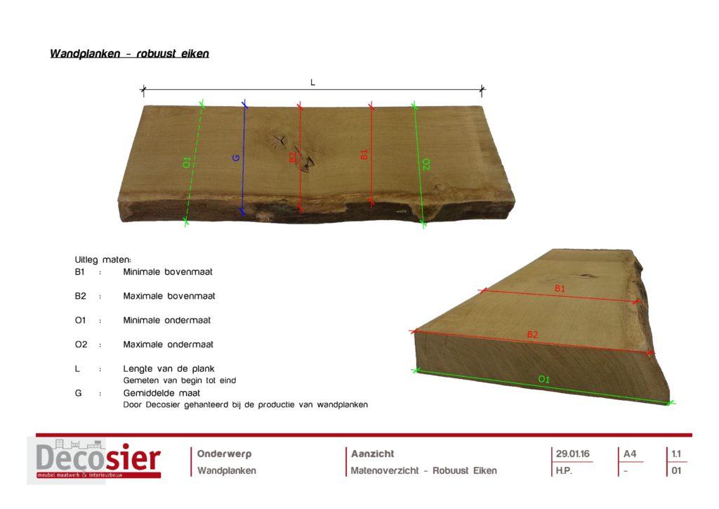 Massief hout - Blindewandplanken