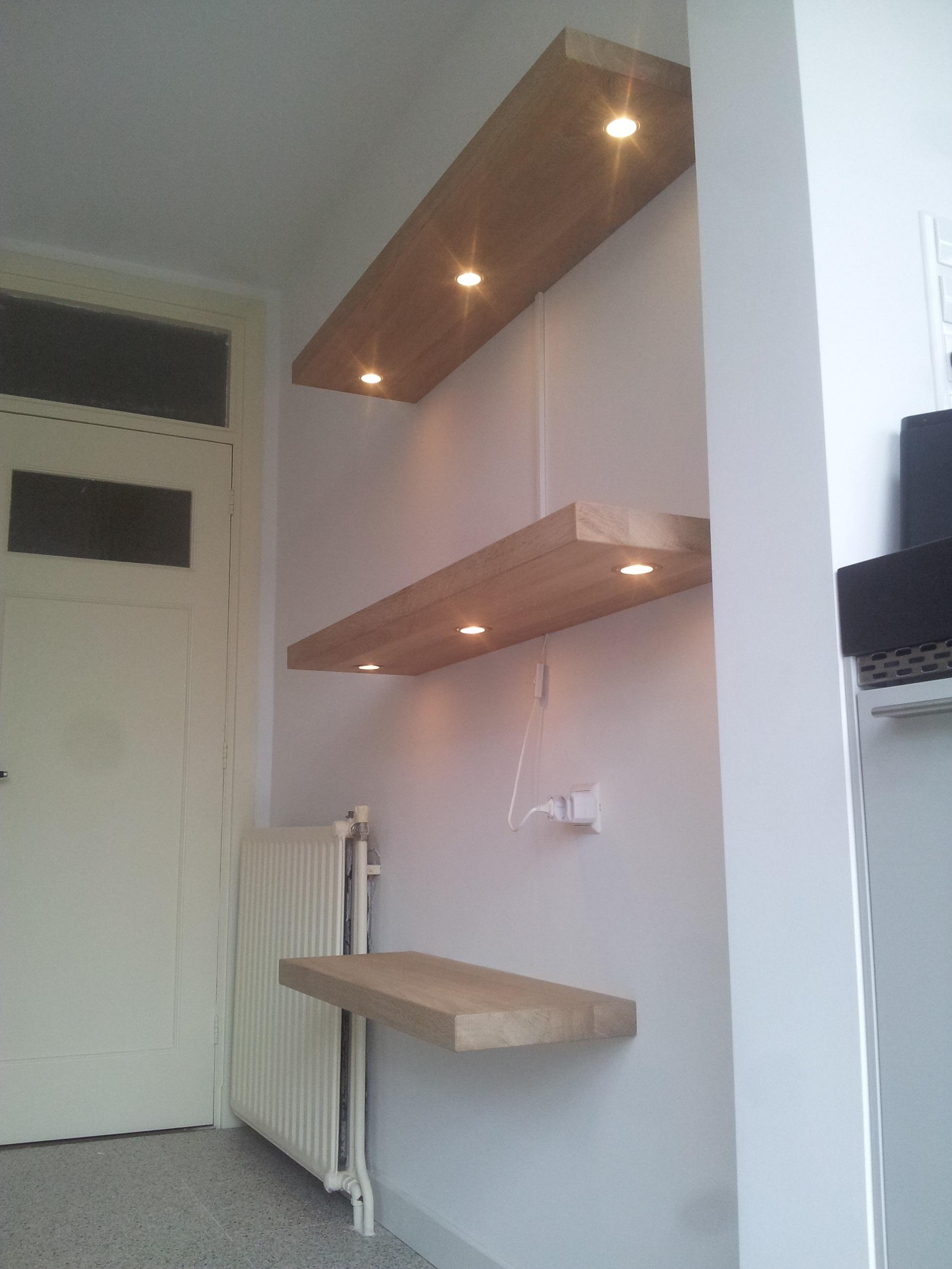 Wandplank Met Verlichting Keuken.Portfolio Verlichting Blindewandplanken